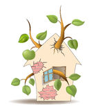 Home and tree Royalty Free Stock Images