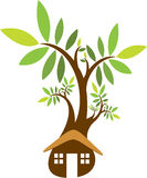 Home tree logo Royalty Free Stock Photography