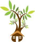Home treelogo Royaltyfri Fotografi