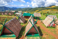 Home tribe of northern thailand. With stunning views Royalty Free Stock Photo