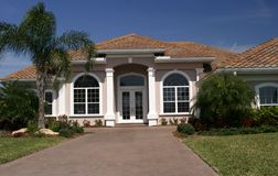 Home in tropics stock photo