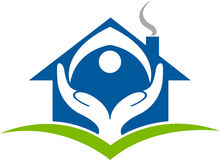 Home trust logo Royalty Free Stock Image