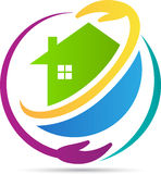 Home for trust. A vector drawing represents home for trust design Stock Image