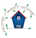 Home tweet home Stock Image