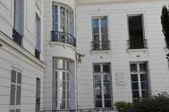 Home of two Presidents, John Adams and John Quincy Adams lived here in 1784 and 1785 at 45 rue d' Auteuil, 16th arr. - Paris Franc Royalty Free Stock Photography