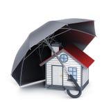 Home and umbrella Royalty Free Stock Photos