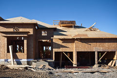 Home Under Construction Stock Images