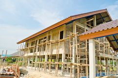 Home under construction Stock Photography