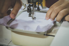The Home-Use Embroidery Machines.  Royalty Free Stock Photo
