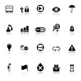 Home use machine sign icons with reflect on white background Stock Photo