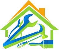 A HOME utiliza ferramentas o logotipo Imagens de Stock