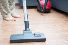 Home vacuum cleaning Royalty Free Stock Photography