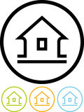 Home - Vector icon on white background Royalty Free Stock Photography