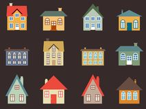 Home vector set Royalty Free Stock Photography