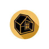 Home vector symbol, estate agency theme, can be used in advertising Royalty Free Stock Photography
