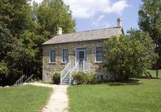 HOME velha de gama alta do tijolo fotografia de stock royalty free