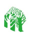 HOME verde imagens de stock royalty free