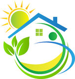 HOME verde Foto de Stock