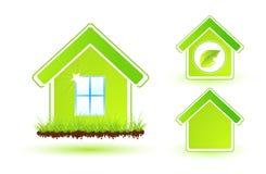 HOME verde Ilustração Royalty Free