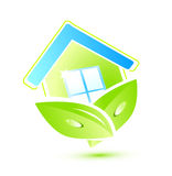 HOME verde Ilustração do Vetor