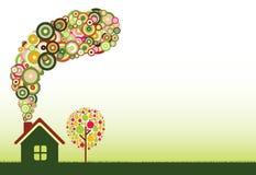 HOME verde Foto de Stock Royalty Free