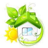 HOME verde do eco Imagens de Stock