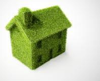 HOME verde isolada do eco Imagens de Stock Royalty Free
