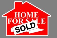 home verklig försäljning för gods royaltyfria foton