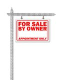 home verkligt försäljningstecken för gods Royaltyfria Foton