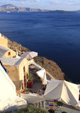 Home with view in Oia,Santorini Royalty Free Stock Image