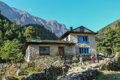 Home in village from nepal Stock Photography
