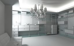 Home wardrobe interior Royalty Free Stock Photography