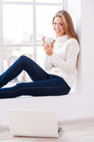 At home warm and comfortable. Royalty Free Stock Photo