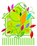 Home with warm response. Symbol Stock Images