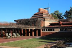Exterior, Frank Lloyd Wright Building Wingspread, Racine Wisconsin royalty free stock photo