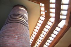 Interior, Frank Lloyd Wright Building Wingspread, Racine Wisconsin royalty free stock image