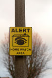 Home Watch sign Stock Photography