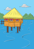 Home on the water vector Stock Photo