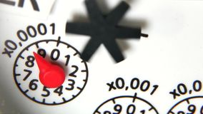 Home water meter, macro stock video