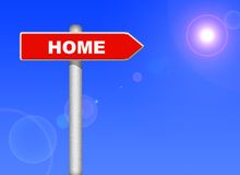 Home way Royalty Free Stock Images
