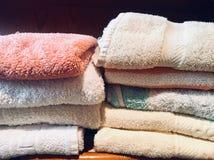 Towel towels home stock photos