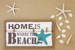 Home Is Where the Beach Is Stock Photography