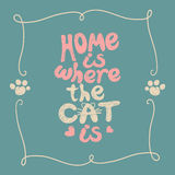 Home is where the cat Royalty Free Stock Image
