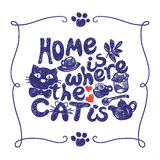 Home is where the cat Royalty Free Stock Photography