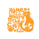 Home is where the cat Royalty Free Stock Photos