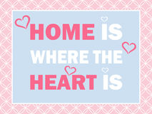 Home is where heart is Royalty Free Stock Photography