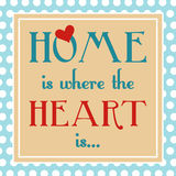 Home is where heart is Royalty Free Stock Photos