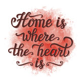 'Home is where the heart is' poster Royalty Free Stock Photography