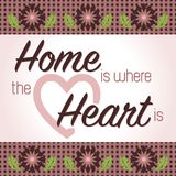 Home is Where the Heart Is stock illustration