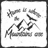 Home is where the mountains are. Stock Photography